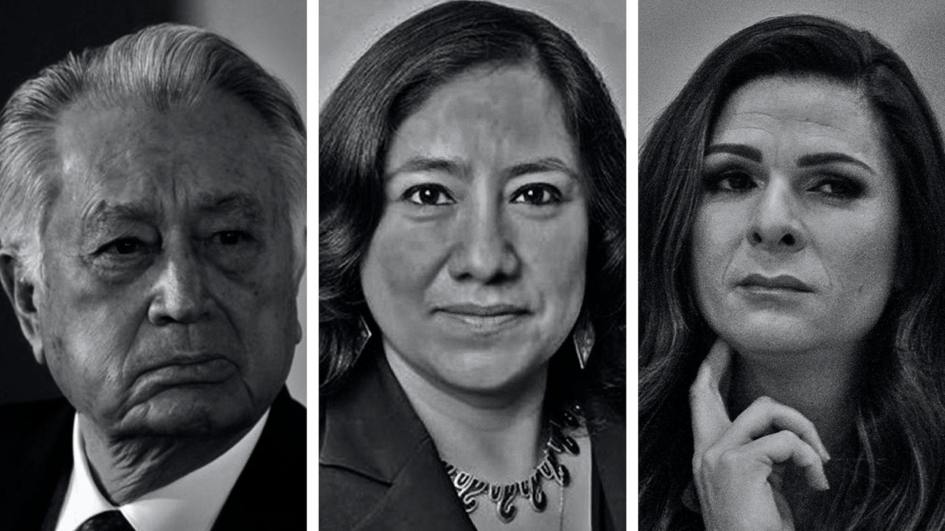 Manuel Bartlett, Irma Eréndira Sandoval y Ana Gabriela Guevara (Fotoarte: Steve Allen)