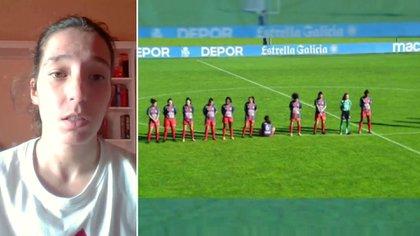 La futbolista habló después de que su imagen recorriera el mundo