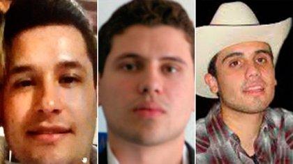Jesús Alfredo Guzmán, Iván Archivaldo, Ovidio Guzmán tres de los cuatro chapitos (Fotos: archivo)