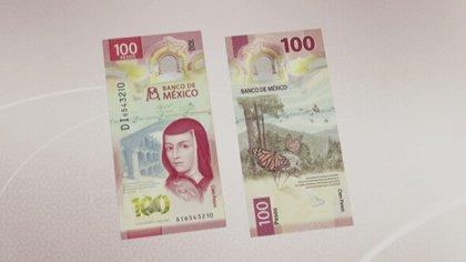 Nuevo billete de 100 pesos. (Foto: Banco de México)