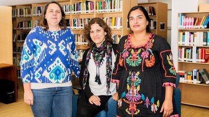Andrea Lombraña, Natalia Ojeda y Leticia Barrera