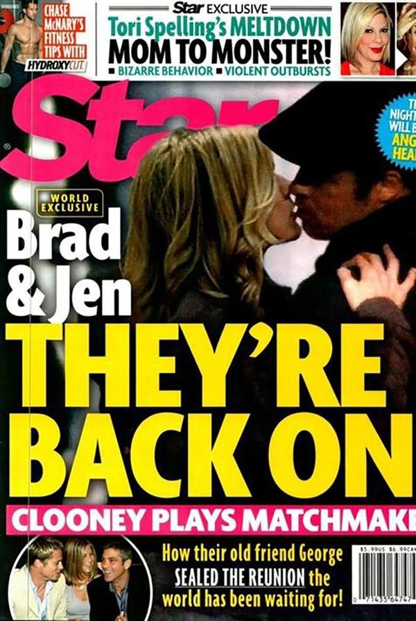 La foto trucada de la revista Star con la supuesta reconciliación de Brad y Jennifer