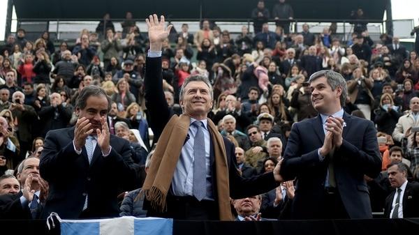 Mauricio Macri en la Rural, en 2016 (Nicolás Stulberg)
