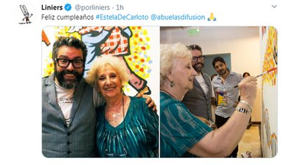 Junto al historietista Liniers.