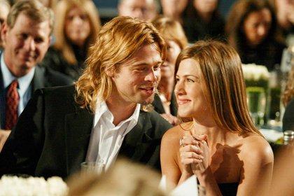 Brad Pitt y Jennifer Aniston (Shutterstock)