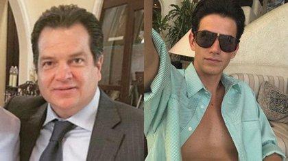 Miguel Alemán Magnani y el actor Kevin Russell Holt Valdés que lo interpreta en la bioserie