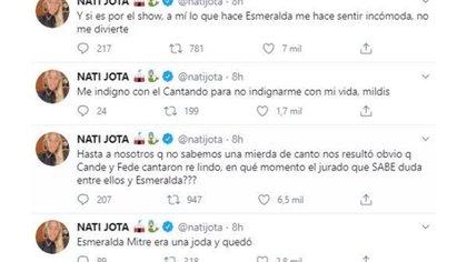 Nati Jota también opinó de Esmeralda Mitre (Foto: Twitter)