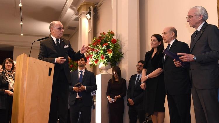 Jorge Faurie y Daniel Raimondi en el Día del Diplomático. Tenían una relación muy tensa