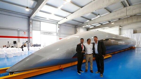 La nueva cápsula de Hyperloop (Reuters)