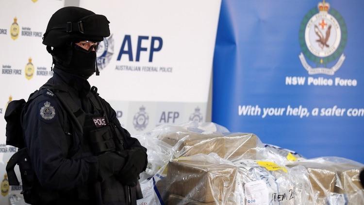 La Policía Federal Australiana decomisó droga que entró por sus puertos marítimos (Foto: AP)