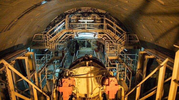 La tuneladora para el soterramiento del tren Sarmiento