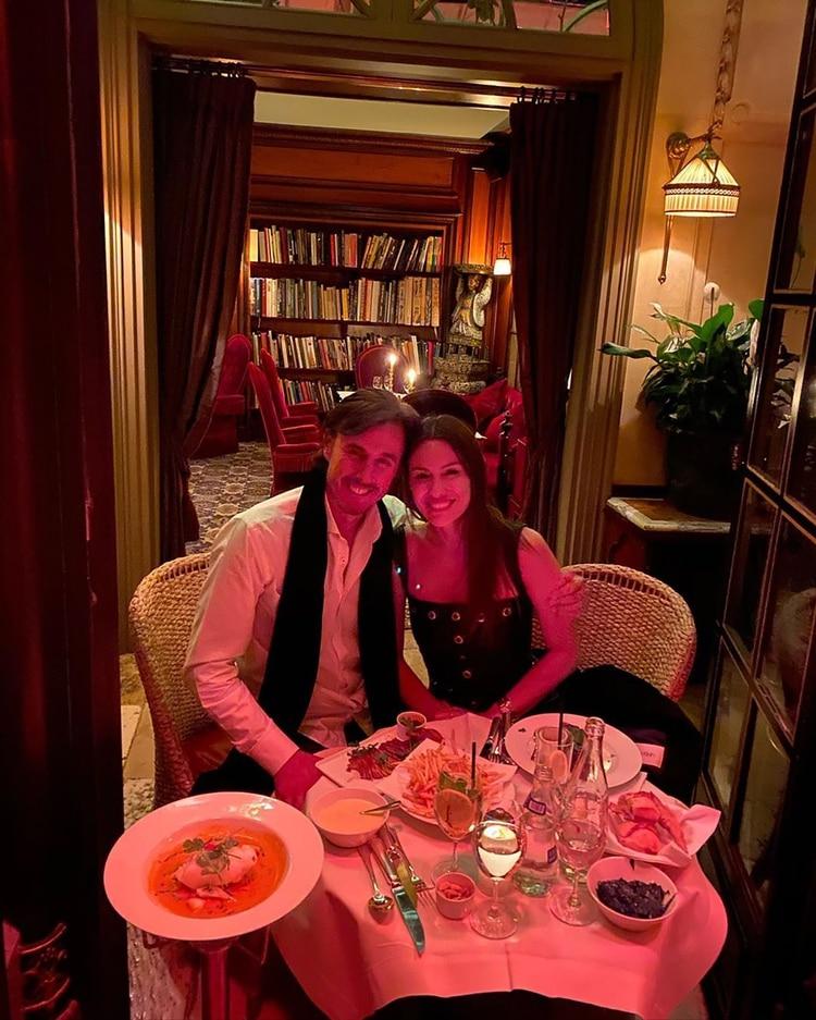 La pareja disfrutó de una escapada romántica