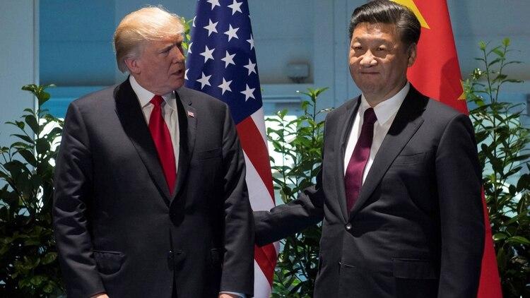 Donald Trump y Xi Jinping, presidente de China