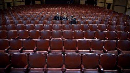 La entrevista se hizo en la sala del Teatro Regio (Gustavo Gavotti)