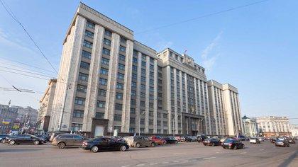 El edificio de la duma, el parlamento ruso, en el centro de Moscú (iStock)