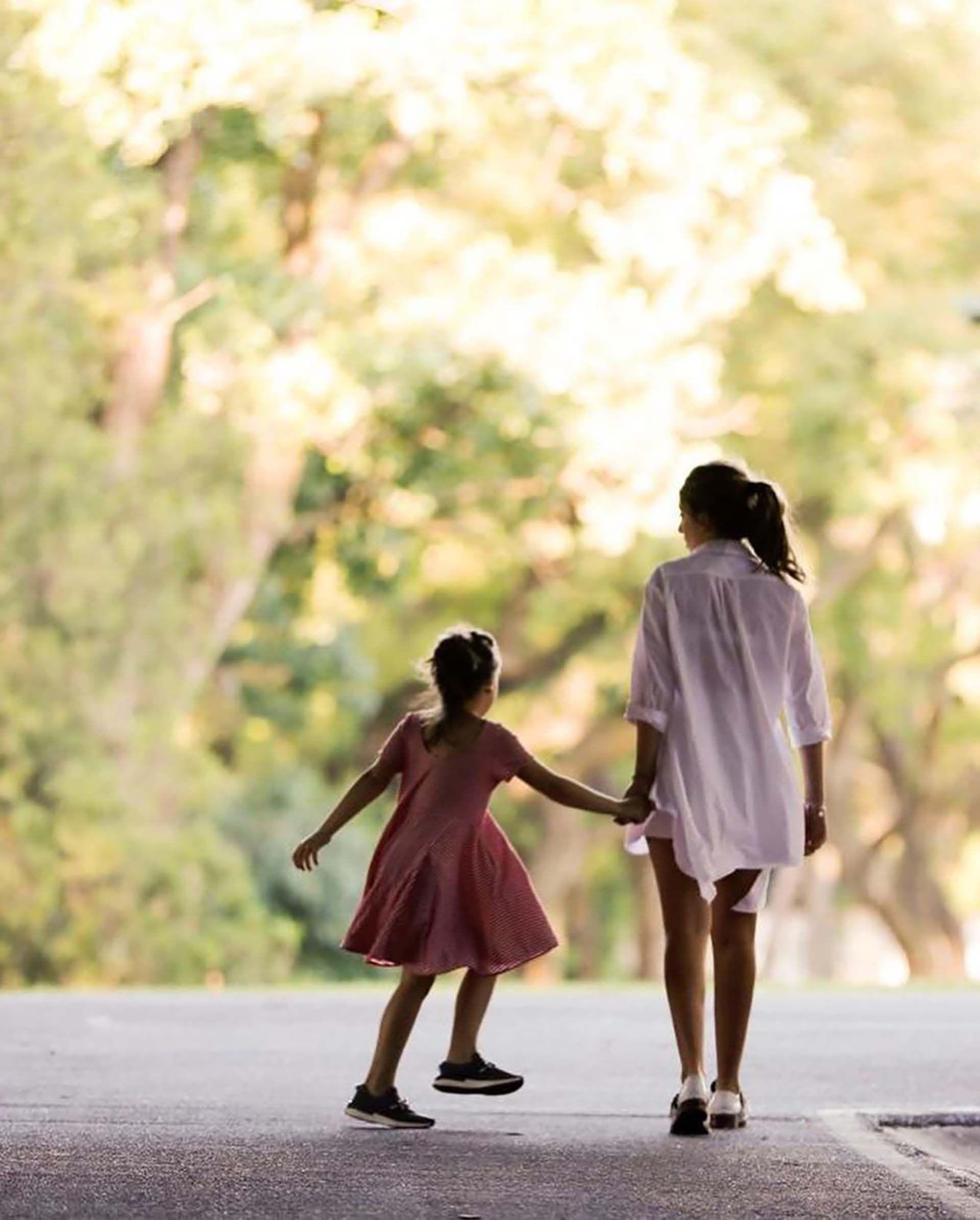 Awada junto a su hija Antonia