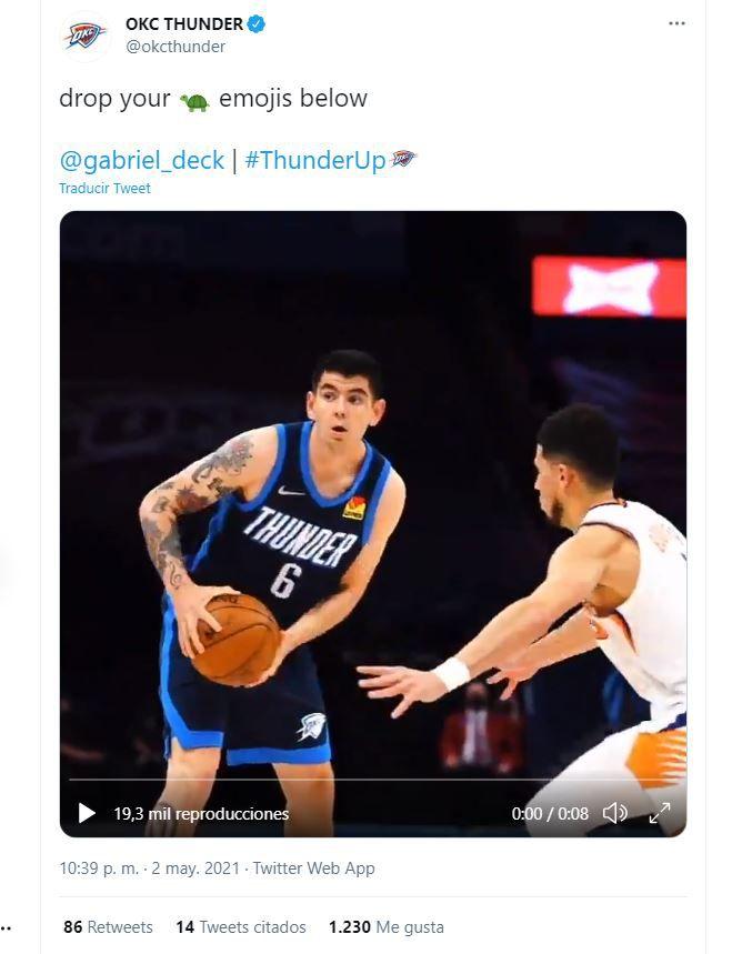 gabriel deck Oklahoma City Thunder NBA