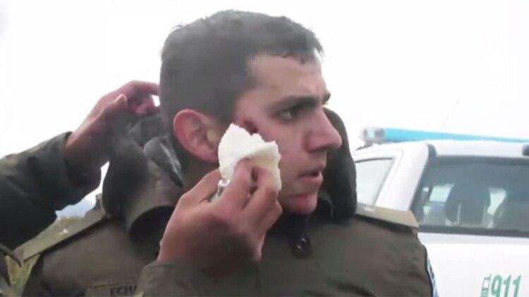 El gendarme Emmanuel Echazú resultó herido en el operativo para desalojar a los mapuches