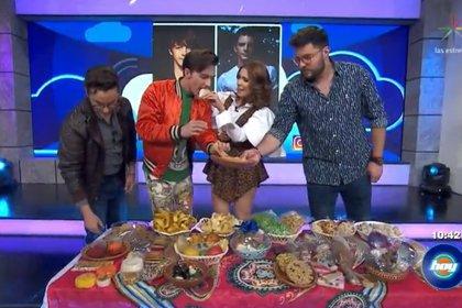 Drake probó dulces mexicanos (Captura Las Estrellas)