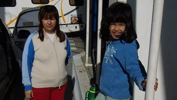 Esta es la última foto que le sacaron a Sofía. Fue en la estación de servicio, antes de ir al camping