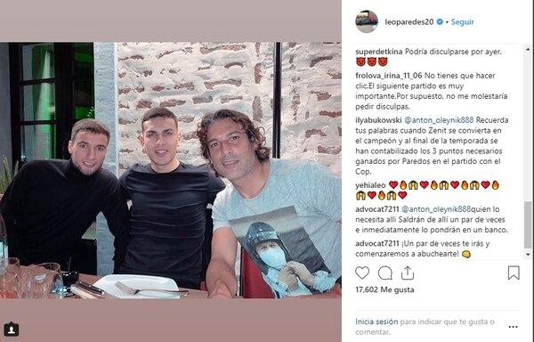 Los hinchas de Zenit contra Leandro Paredes