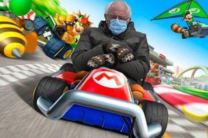 Bernie Sanders Mario Kart.