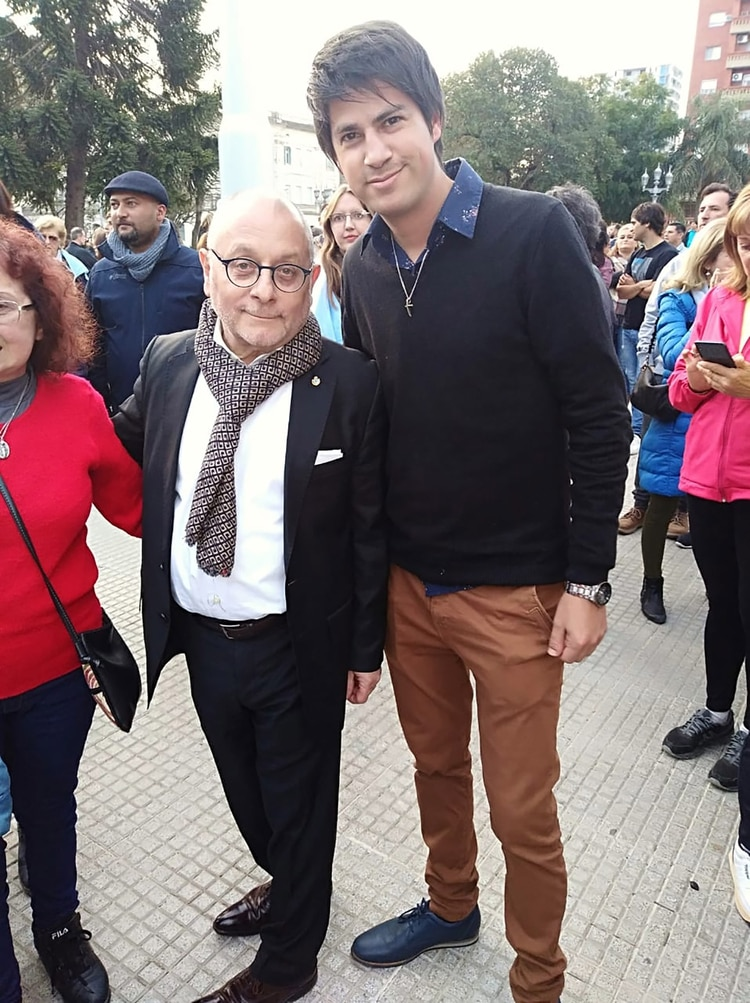 El canciller Jorge Faurie participó de la marcha