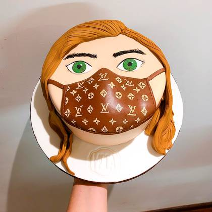 La torta con barbijo by Moca Bakery (Fotos: @mocabycatamoroni)