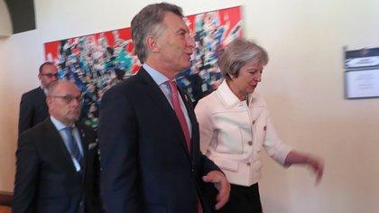 Mauricio Macri junto a Theresa May