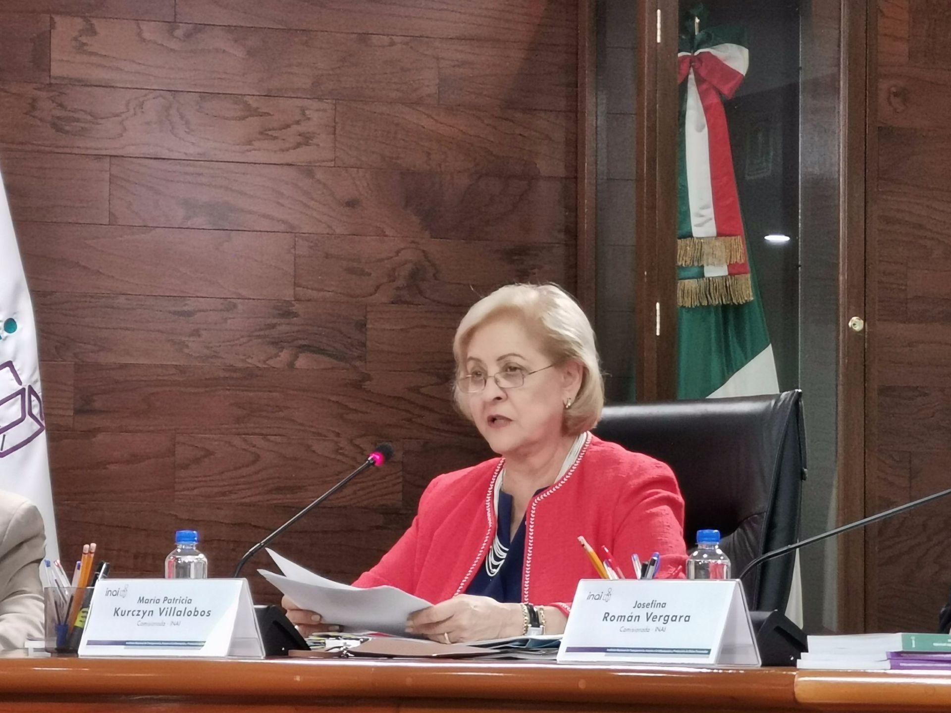 La comisionada María Patricia Kurczyn Villalobos argumentó ante el pleno del INAI (Foto: Especial)