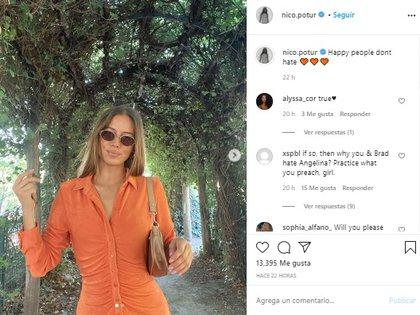 La modelo alemana utilizó su cuenta de Instagram para compartir un críptico comentario (Foto: Instagram de Nicole Poturalski)