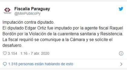 El tuit de la Fiscalía