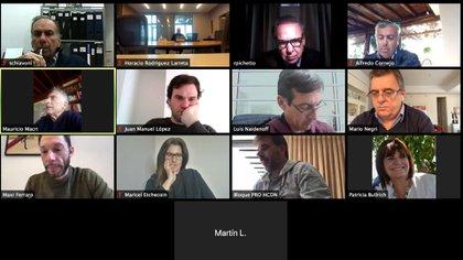 El encuentro virtual de este lunes de Juntos por el Cambio
