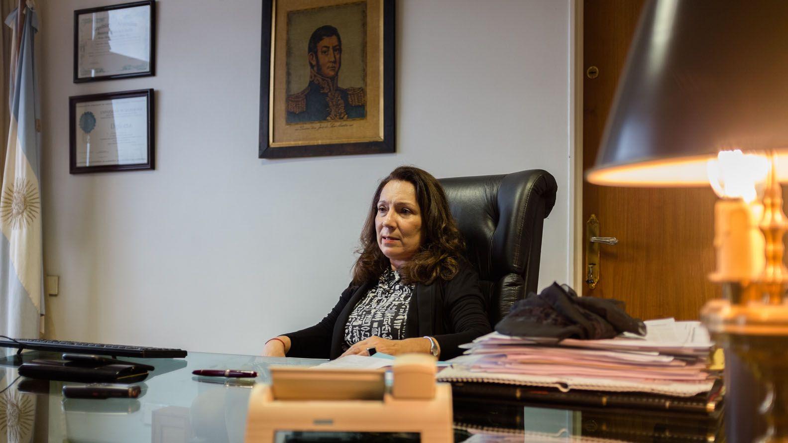 Cristina Caamaño, interventora de la Agencia Federal de Inteligencia (AFI)