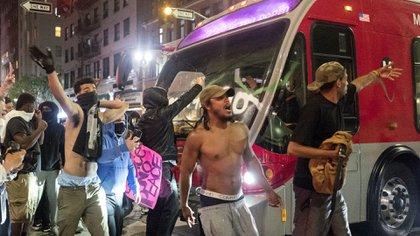 Protestas en Los Angeles (AP Photo/Ringo H.W. Chiu)