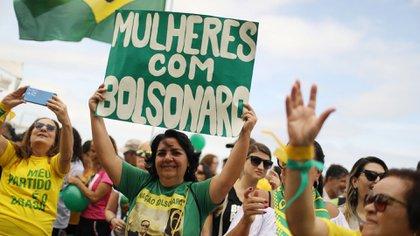 Simpatizantes de Jair Bolsonaro en Brasil (Reuters)
