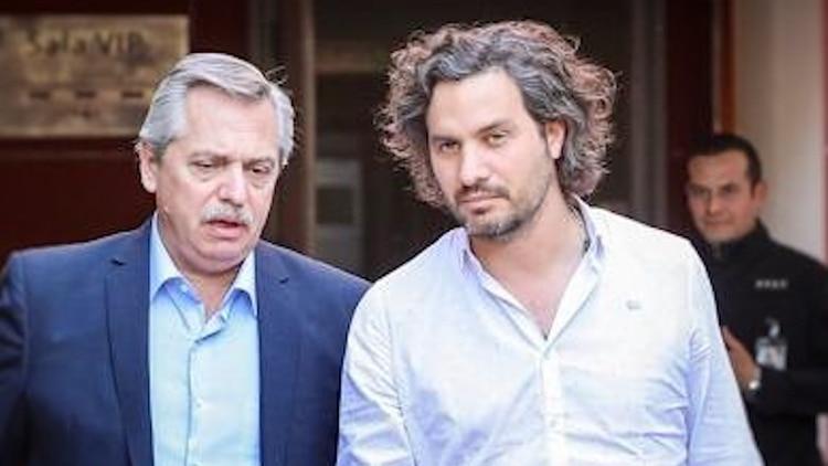 Santiago Cafiero, próximo jefe de Gabinete, junto a Alberto Fernández