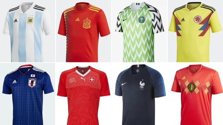 Las camisetas de las 32 selecciones del Mundial de Rusia  ¿cuál es la más  linda  ef74fb0c5ebdd