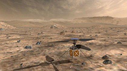 El Mars Helicopter, un pequeño helicóptero autónomo, viajó con el rover Mars Perseverance de la NASA. (NASA/JPL-Caltech)