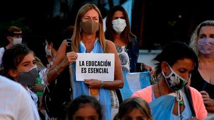 También hay protestas en Plaza Irlanda y la ciudad de La Plata (Nicolás Stulberg)