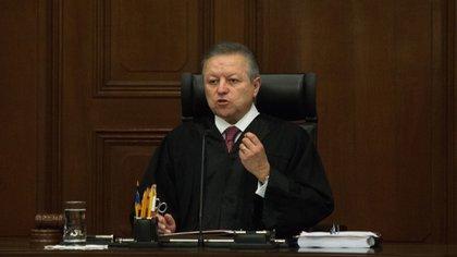 Zaldívar, magistrado presidente de la SCJN, festejó una nueva era en el máximo Tribunal del país (Foto: Cuartoscuro)