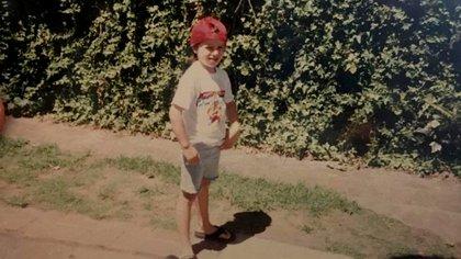 Una foto de la infancia de Majo Staffolani en Eldorado, Misiones