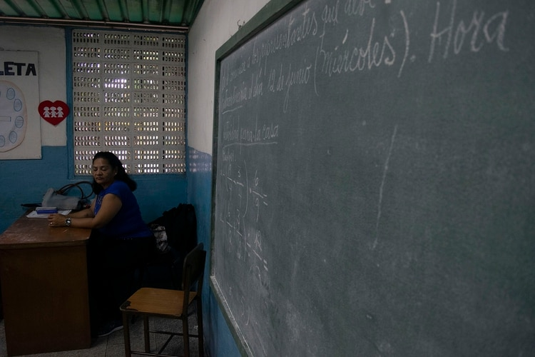 Un aula venezolana (Juan Manrique)