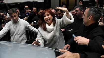Cristina volvió y recibió a Fernández, Kicillof y Lammens (Nicolás Stulberg)