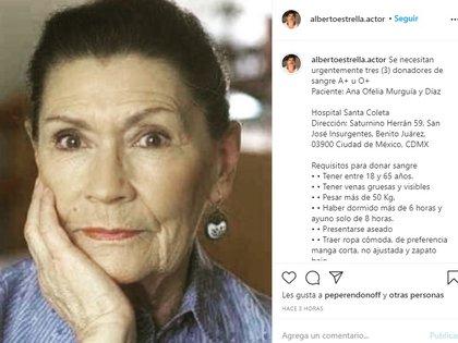 El llamado de Alberto Estrella a sus más de 23 mil seguidores de Instagram (Foto: Captura de pantalla)