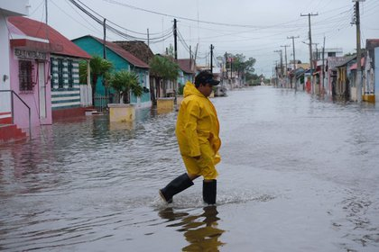 Imagen de los efectos del huracán Delta, tras tocar tierra el 7 de octubre en Quintana Roo (Foto: EFE/ Cuauhtemoc Moreno/Archivo)