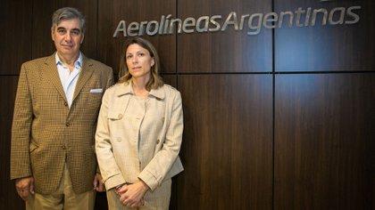 Costantini y Dell'Acqua, esta tarde en las oficinas de Aerolíneas