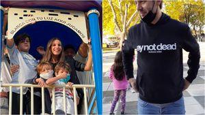 """Pampita y Benjamín Vicuña inauguraron una plaza con el nombre de su hija Blanquita: """"Para nosotros es re especial"""""""