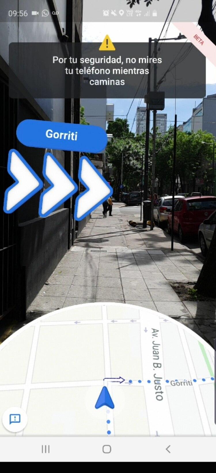 La herramienta de realidad aumentada añade una capa virtual a Google Maps.