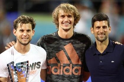 Thiem, Zverev y Djokovic compartieron momentos juntos durante el Adria Tour